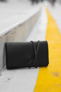 Black Leather Tobacco Case