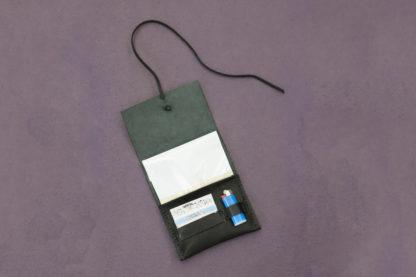 Black Leather Tobacco Case