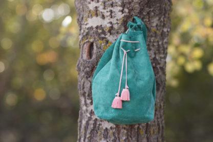 Girls Leather Bucket Bag