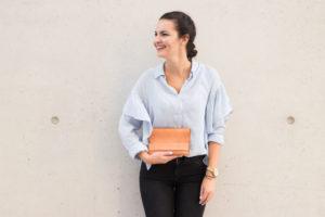 Beige Leather Handbag