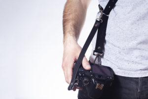 Black Leather Camera Strap