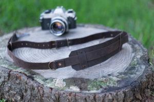 leather camera strap