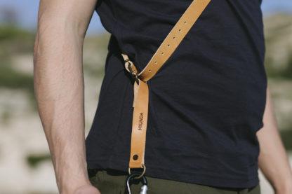 Beige Leather Camera Strap