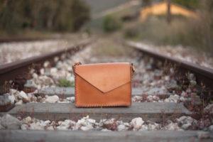Beige Leather Shoulder Bag