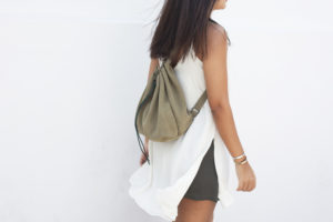 Light Khaki Suede Backpack