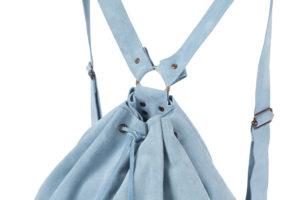 Light Blue Suede Backpack