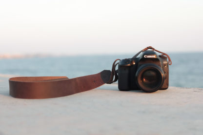 Minimal Leather Camera Strap
