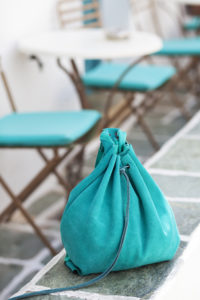Green Suede Backpack