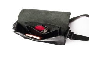 Black Leather Cross-body Bag