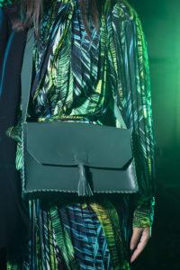 Green Leather Cross-body Bag