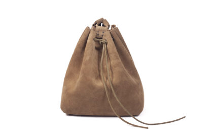 Khaki Suede Backpack