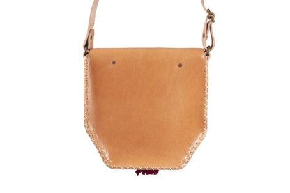 Beige Leather Crossbody bag